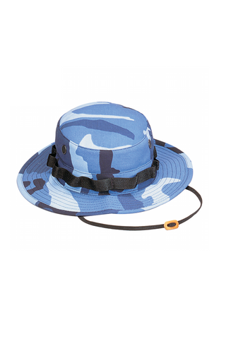 Camo BDU Bucket Hat - Sky Blue