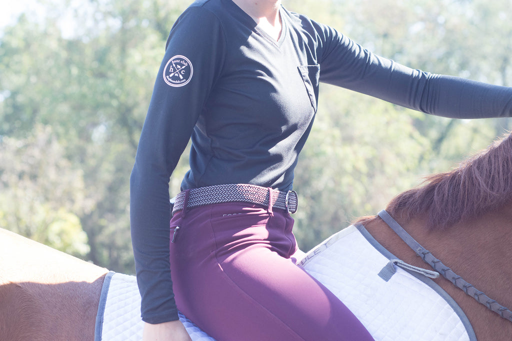 Girl riding horse equestrian bareback