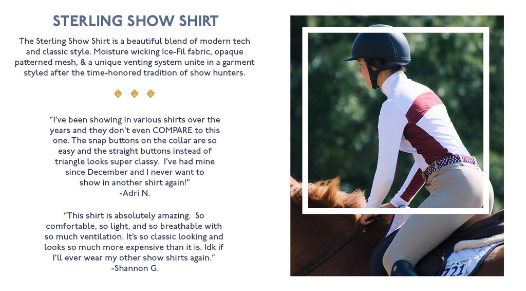 Woman Riding Horse in Hunt Club Sterling Show Shirt