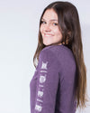 Unisex Brave Thoughts Long Sleeve Tee - Amethyst