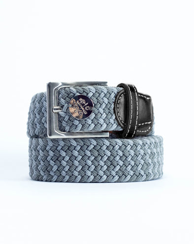 The Derby Belt - Black Leather Dapple Grey