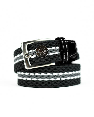The Derby Belt - Black Leather Fieldstone
