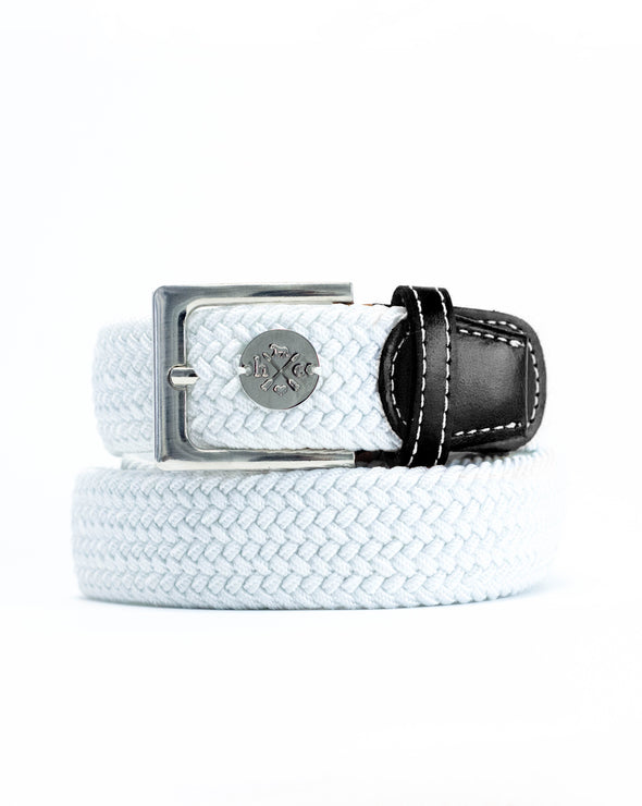 The Derby Belt - Black Leather Single Oxer