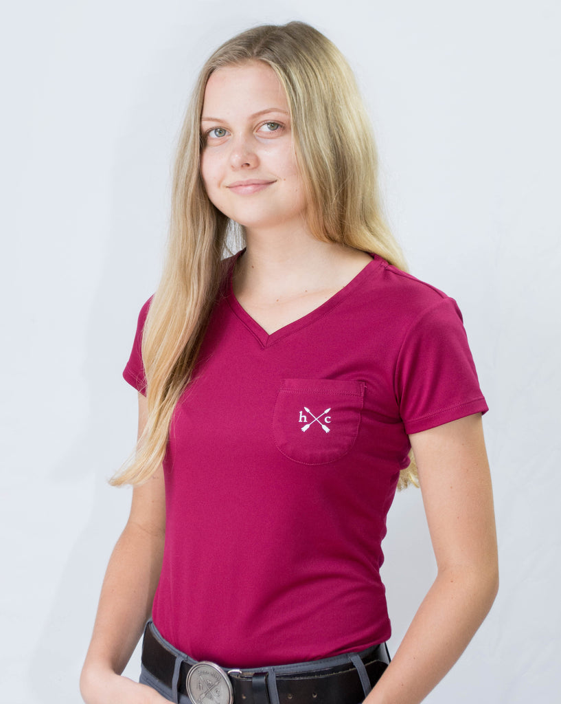 Women's Essential Pocket Tee - Bordeaux