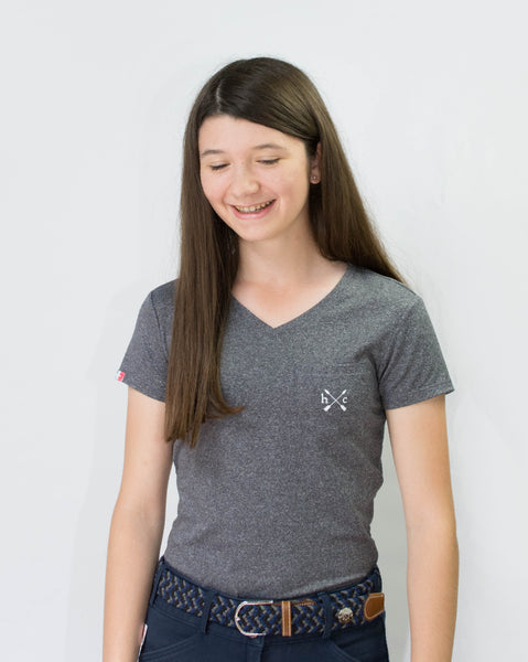 Women's Essential Pocket Tee - Dark Heather Grey