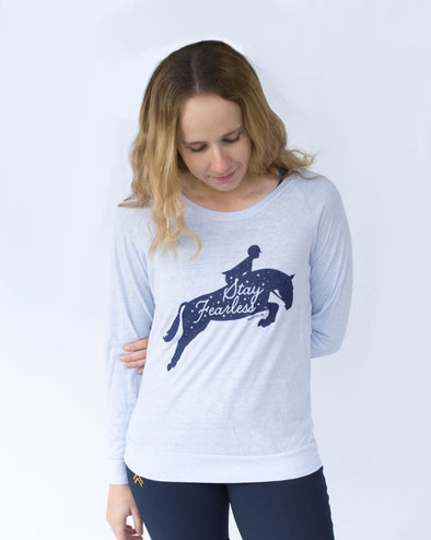 Women's Stay Fearless Slouchy Pullover - Glacier