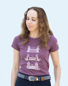 Women's Grab Mane Tee - Heather Maroon