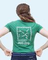 Women's Derby Day Tee - Heather Grass Green