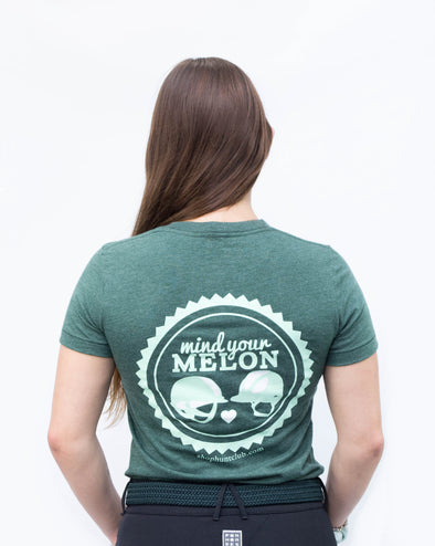Women's Mind Your Melon Tee - Hunter Green