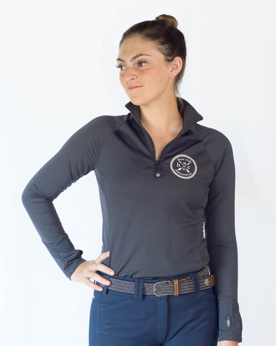Women's Performance 1/4 Zip Pullover - Blue Grey