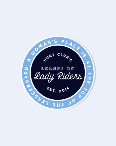 Lady Riders Vinyl Sticker