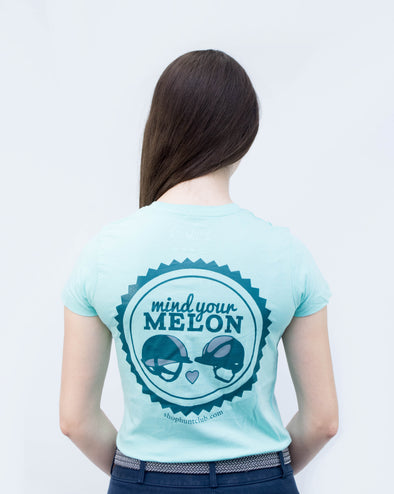 Slim Fit Mind Your Melon Tee - Sky Blue