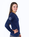 Women's Long Sleeve Essential Pocket Tee - Navy