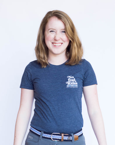 Women's No Bad Rides Tee - Heather Navy