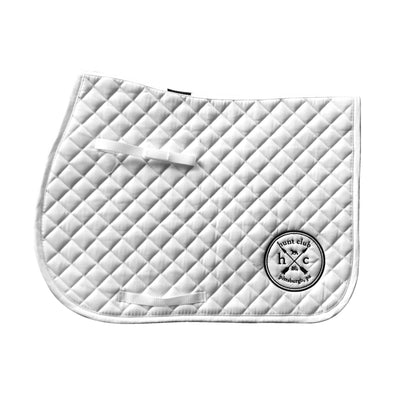 Logo Saddle Pad - White