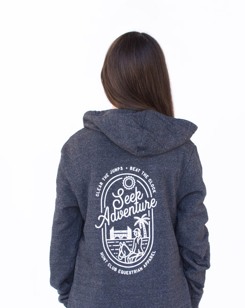 Seek Adventure Hoodie - Eco Black
