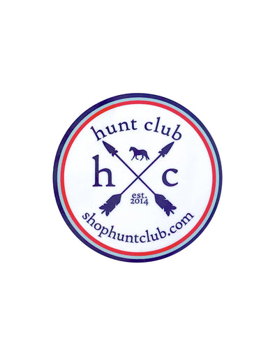 Tri-Color Hunt Club Logo Vinyl Sticker