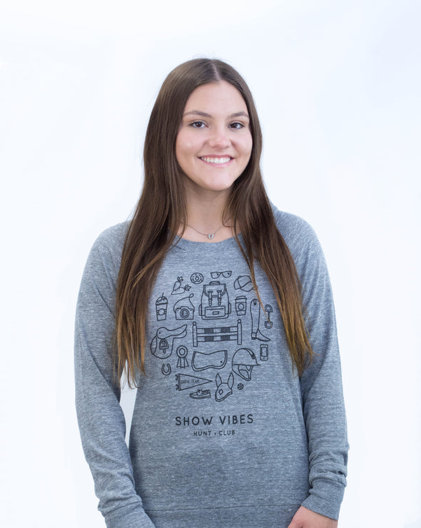 Women's Show Vibes Slouchy Pullover - Heather Grey