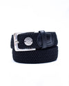 The Derby Belt - Black Leather Half Pass
