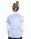 Good Vibes Bamboo Tee- Cloudburst