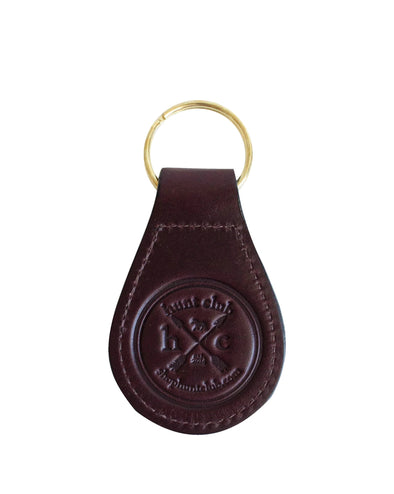HC Leather Logo Keychain - Havana Brown