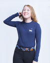 Night Ride Long Sleeve Bamboo Tee - Navy