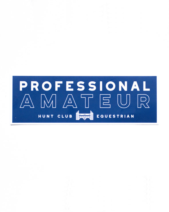 Professional Amateur Vinyl Sticker