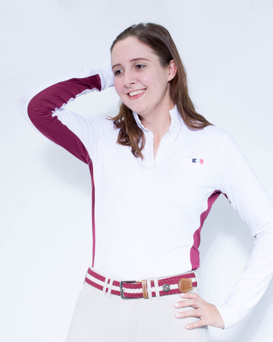 Women's Sterling Show Shirt - White/Bordeaux