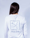 Unisex Derby Day Long Sleeve Tee - Heather White
