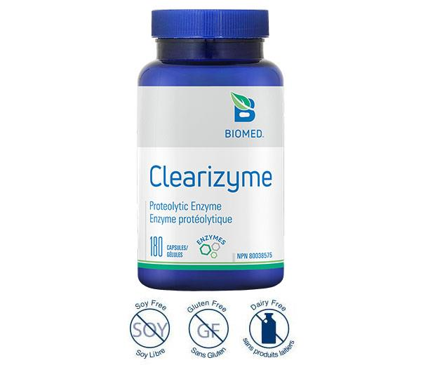 Clearizyme 180 Caps - Anti-inflammatory, Systemic Enzyme