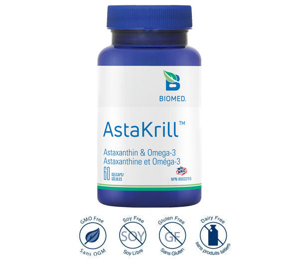 AstaKrill  60 gelcaps - High Absorption Omega-3