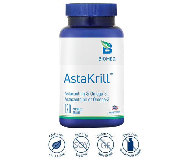 AstaKrill  120 gelcaps - High Absorption Omega-3