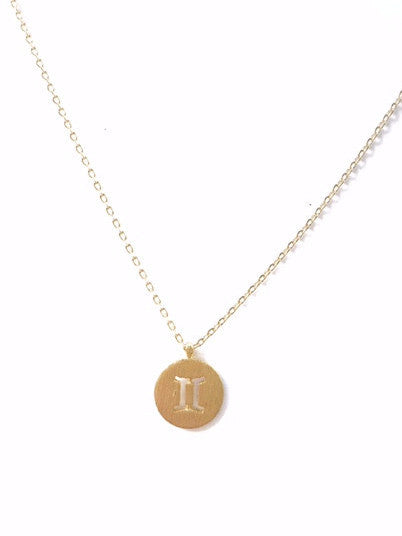 """YOUR SIGN"" PLATE NECKLACE"