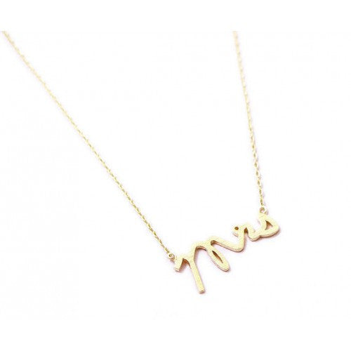 """MRS"" NECKLACE"