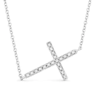 MICRO ELITE CROSS NECKLACE SV
