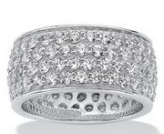 """CZ"" CUBIC ZIRCONIUM  MUJER BAND RING"