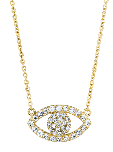 """PRECIOUS EVIL EYE GOLD"" NECKLACE"
