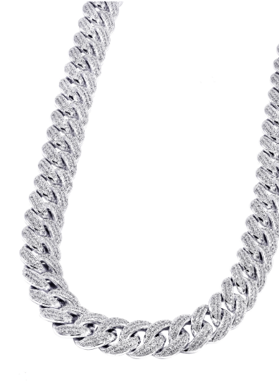 LALA M. CUBAN LINK BAR CLASP CHAIN
