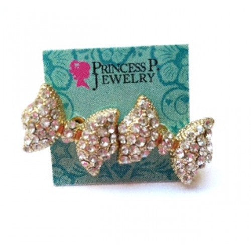 PRINCESS GOLD BOW EARRINGS