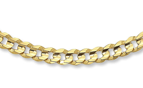 CURB AM GOLD-CHAIN