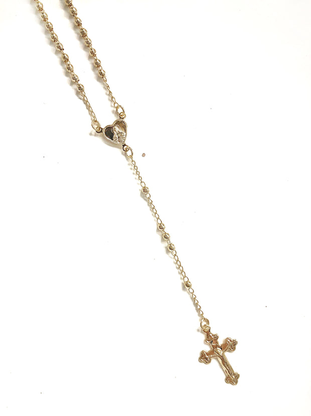 HEART SV ROSARIO NECKLACE