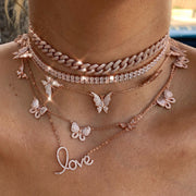 """I LOVE ME MORE""  LALA STERLING SILVER NECKLACE"