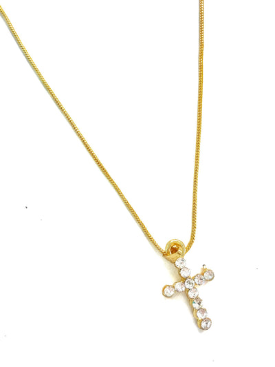 MEL CROSS SV NECKLACE