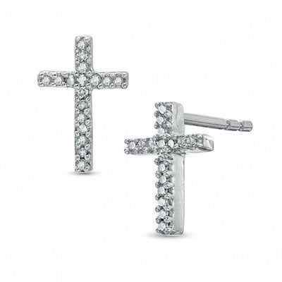 MINIATURE CROSS EARRINGS