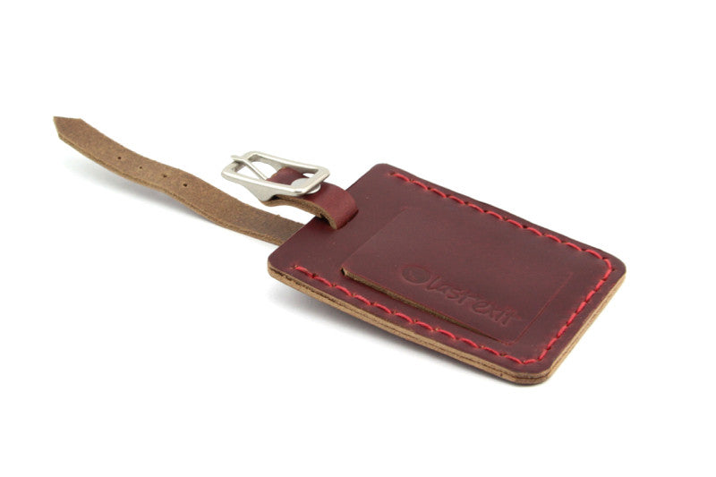 Hermosa Luggage Tag: Brown