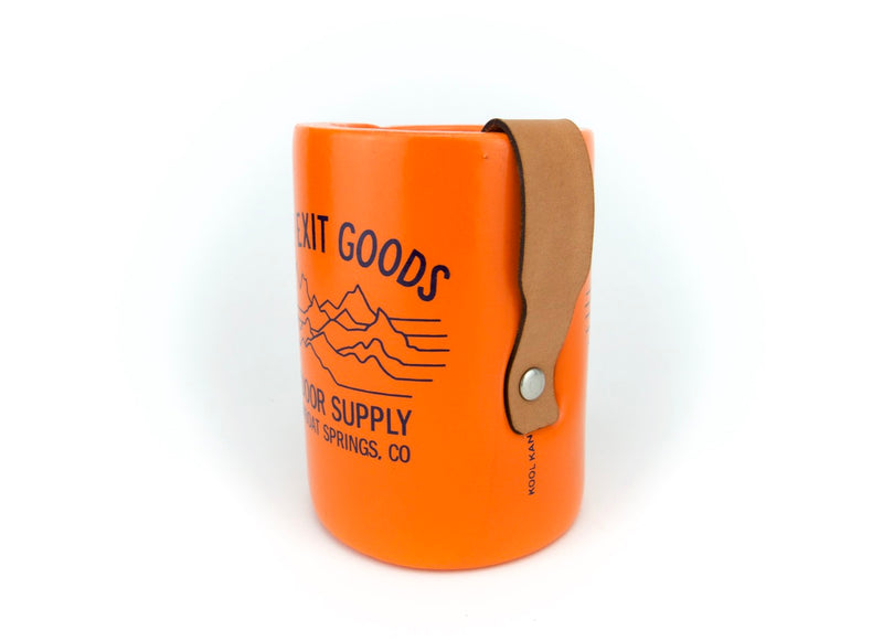 Vinyl Koozie with Leather Holder