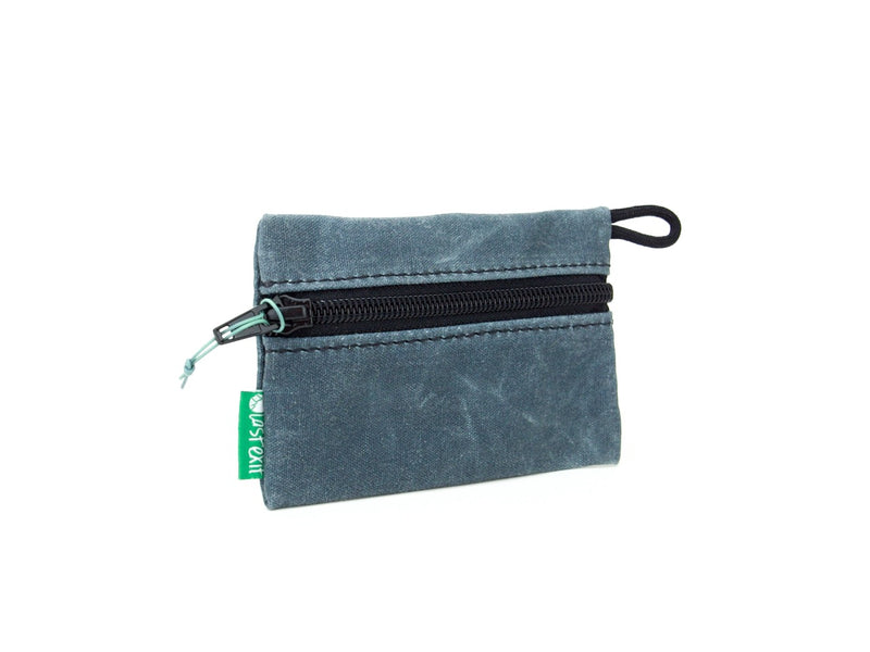 Waxed Canvas Zip Wallet