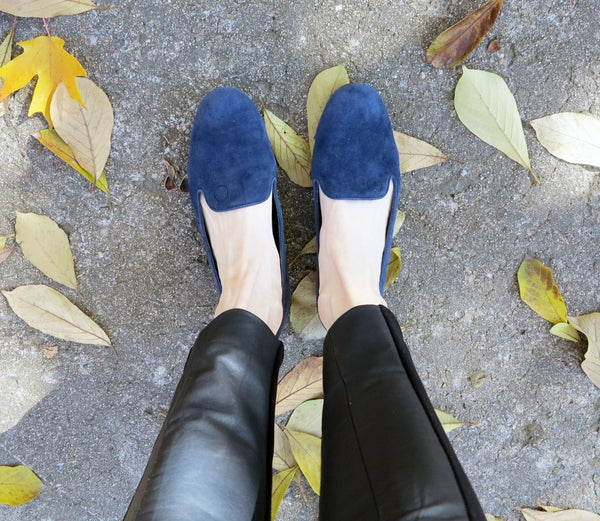 lily sage co rhea footwear blue flats