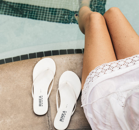 rhea footwear eva white sandals simplicity blog