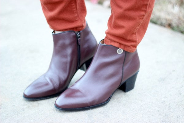 Rhea Footwear City Peach Brown Daphne Booties